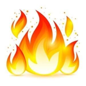 vector fire decorative icon